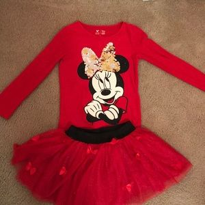Girls Size 6 Disney Tutu Skort Set